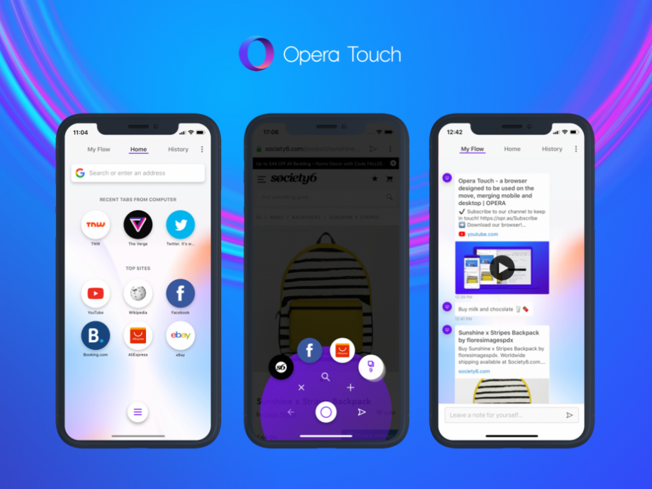 opera touch iphone xs max