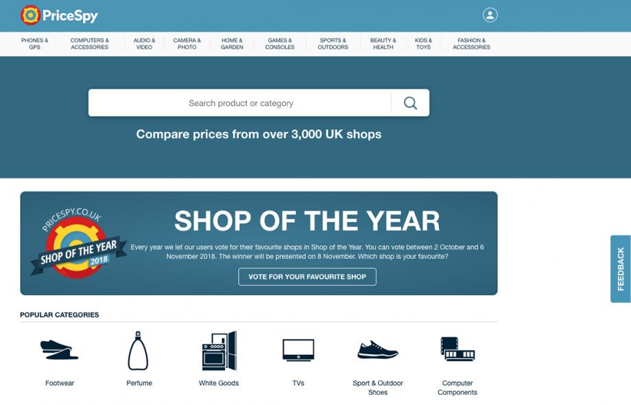 PriceSpy checks UK retailers