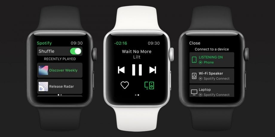 Spotify lands on the Apple Watch, but big features are missing in