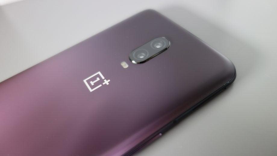 OnePlus 6T Thunder Purple camera closeup