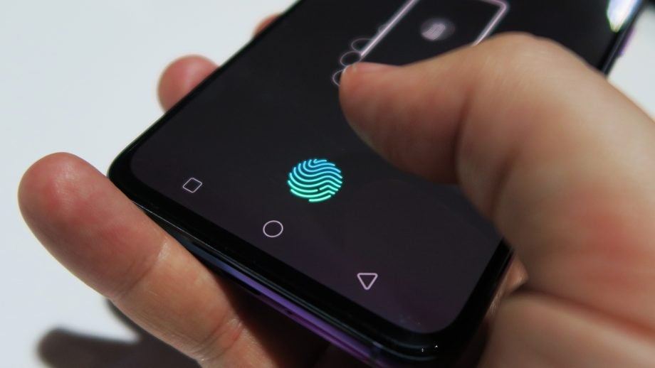 Oppo RX17 Pro hands on fingerprint sensor