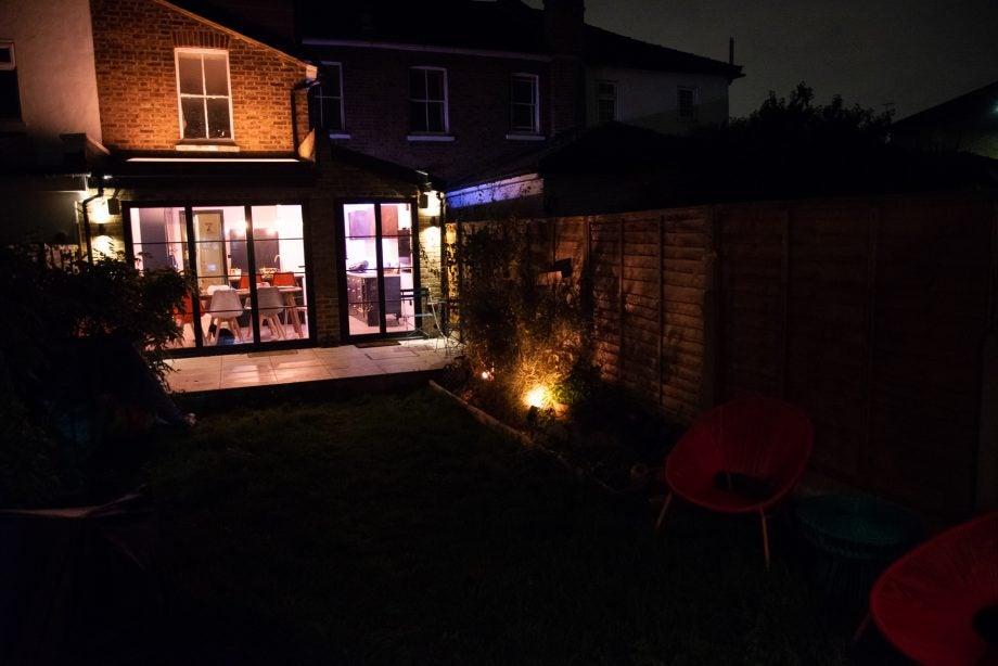Philips Hue Outdoor light in garden