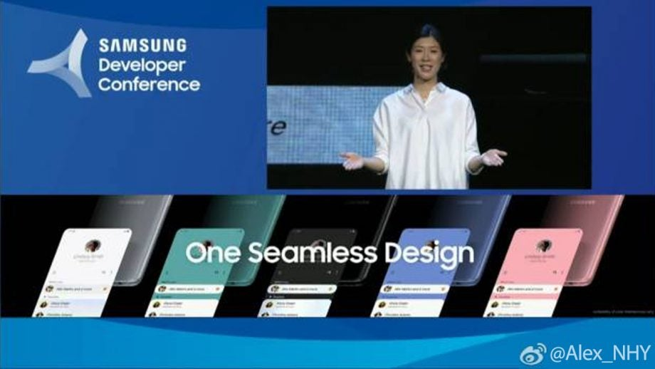 SDC 2018 One UI Galaxy S10 colours