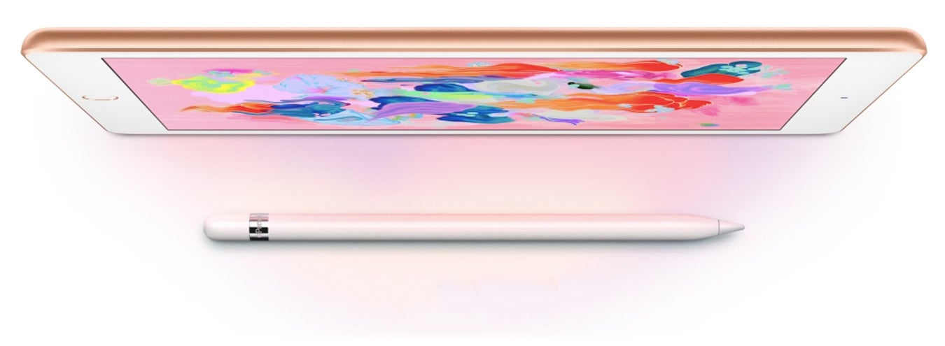 iPad 9.7-inch top down with Apple Pencil cropped