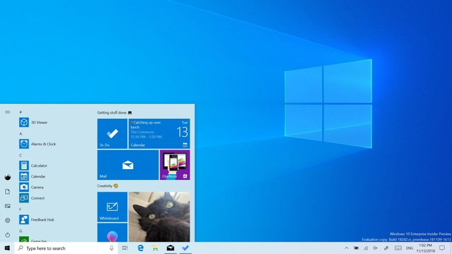 Windows 10 light mode