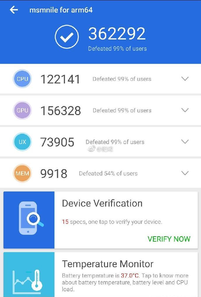 snapdragon 855 specs benchmarks leak