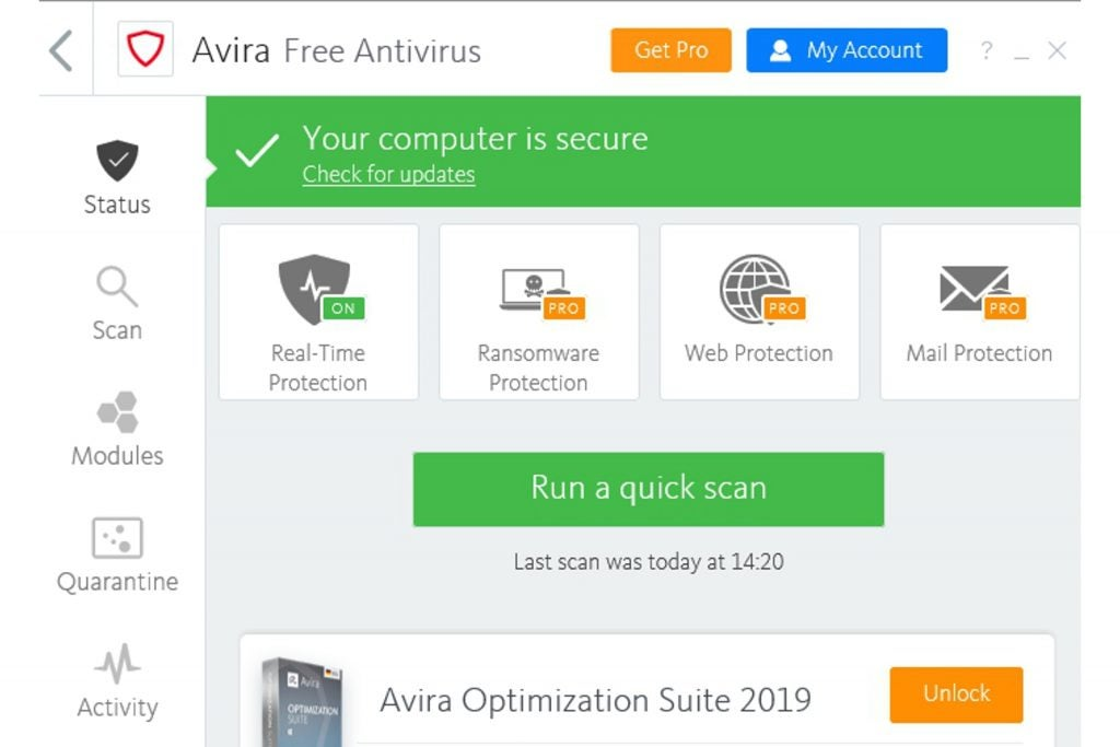 Best Free Antivirus 2020 The 6 Best Free Av Packages