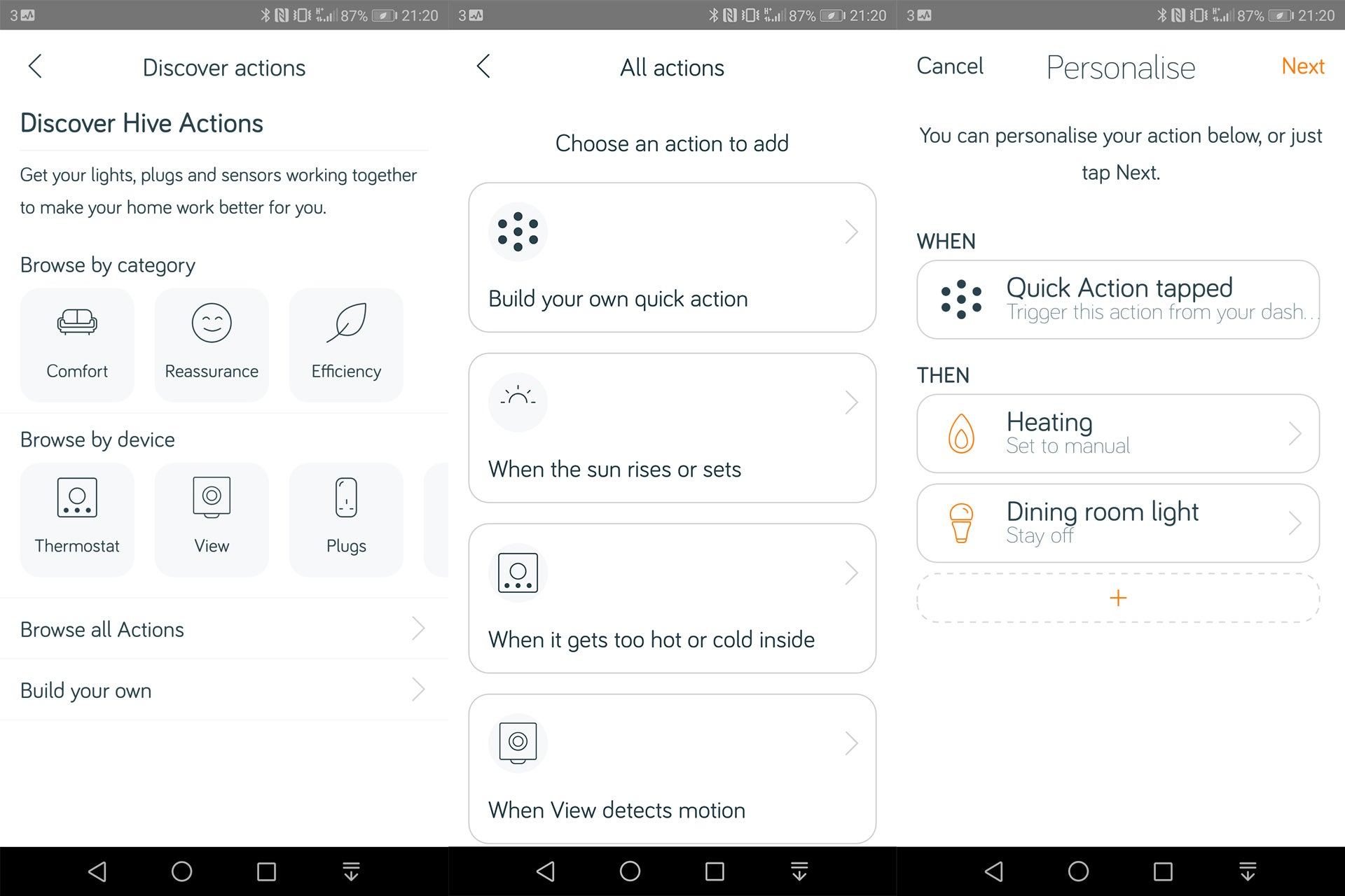 Hive Active Heating 2 - App actions 2