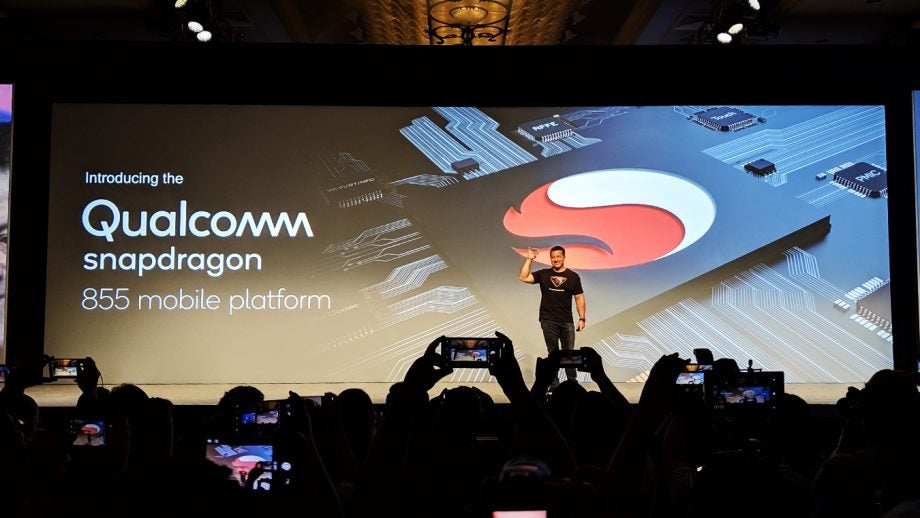 Alex Katouzian on stage with the Qualcomm Snapdragon 855