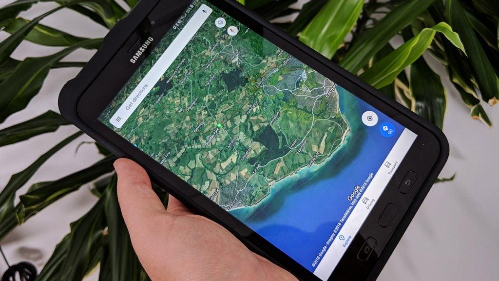 Samsung Galaxy Tab Active 2 map
