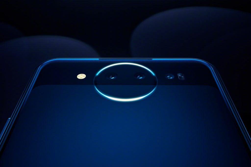 Vivo Nex Dual Display Edition rear Lunar Ring closeup Ice Field Blue press image