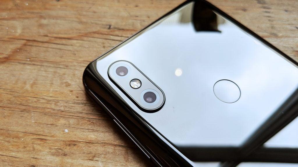 Xiaomi Mi Mix 3 camera closeup Onyx Black