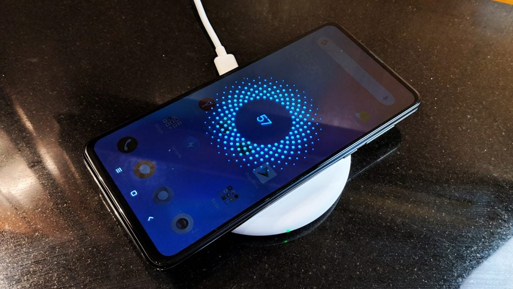 Xiaomi Mi Mix 3 on wireless charger Onyx Black