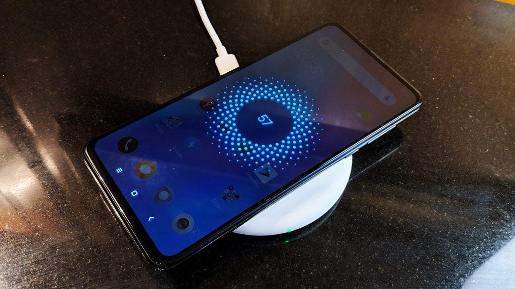 Xiaomi Mi Mix 3 on wireless charger Onyx Black