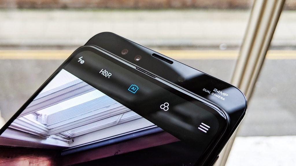 Xiaomi Mi Mix 3 pop up front camera closeup Onyx Black 2