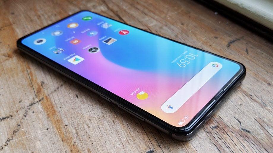 Xiaomi Mi Mix 3 screen 34 view on table Onyx Black