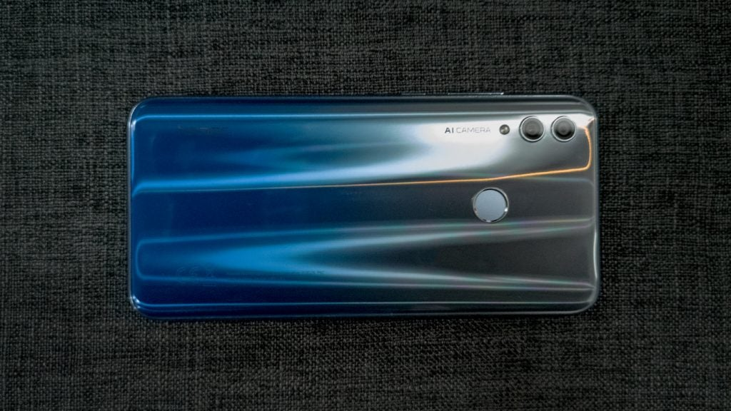 Honor 10 Lite back on fabric