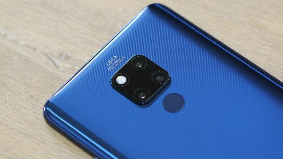 Huawei Mate 20 X angled camera macro