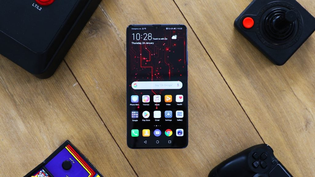 Huawei Mate 20 X top down staged