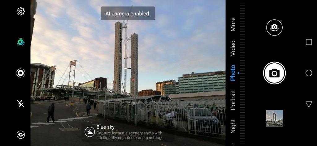 Huawei P Smart 2019 camera UI scene detection screenshot