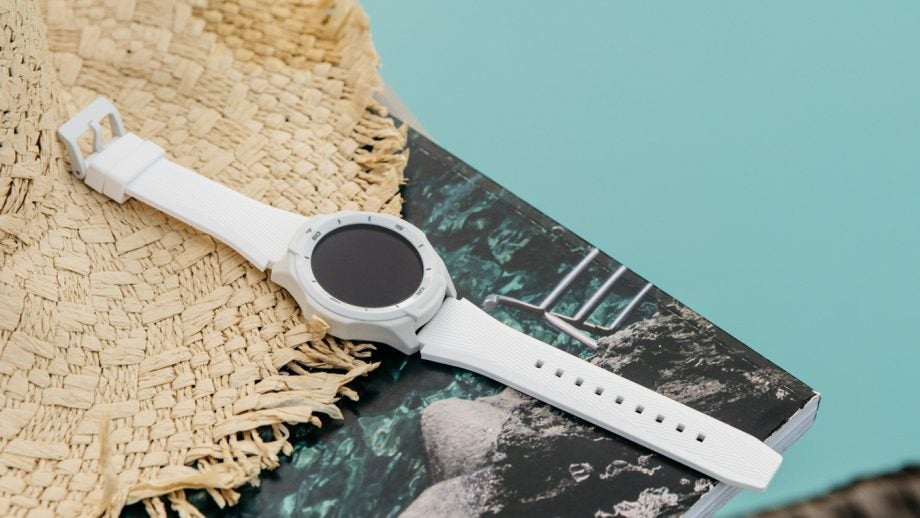 TicWatch S2 press image green backdrop