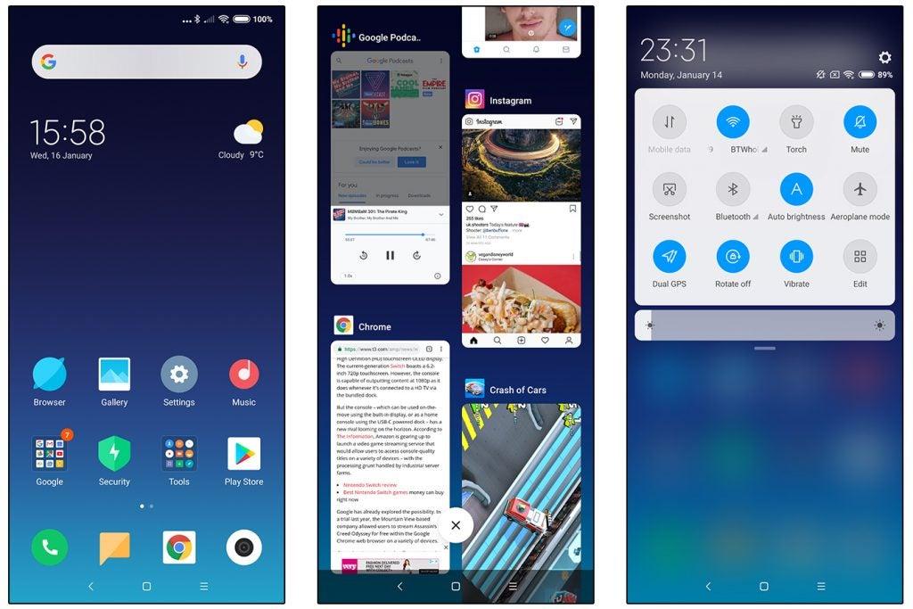 Xiaomi Mi Mix 3 MIUI 10 Global UI screenshots