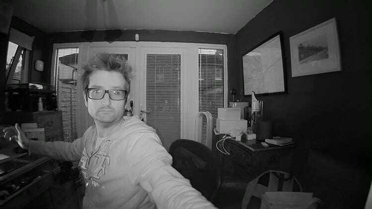 Bosch 360-Degree Indoor Camera night vision sample
