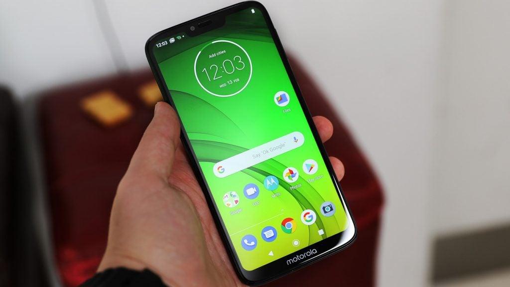 Moto G7 Power handheld