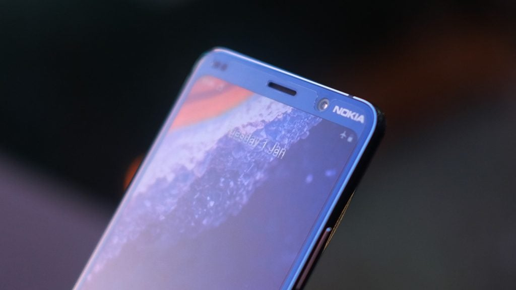 Nokia 9 PureView front camera closeup