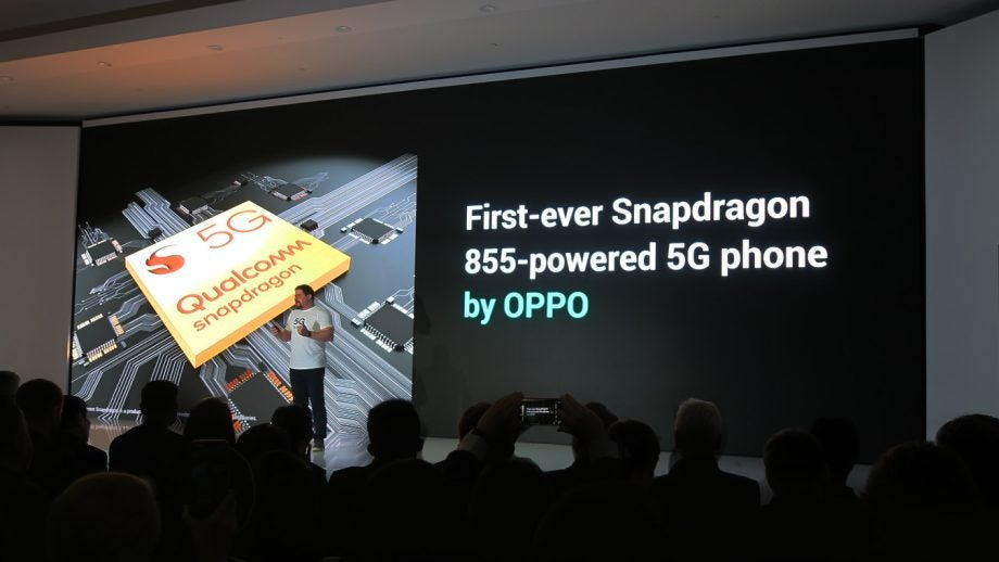 Qualcomm CEO Cristiano Amon at Oppo 5G Snapdragon 855 announcement MWC