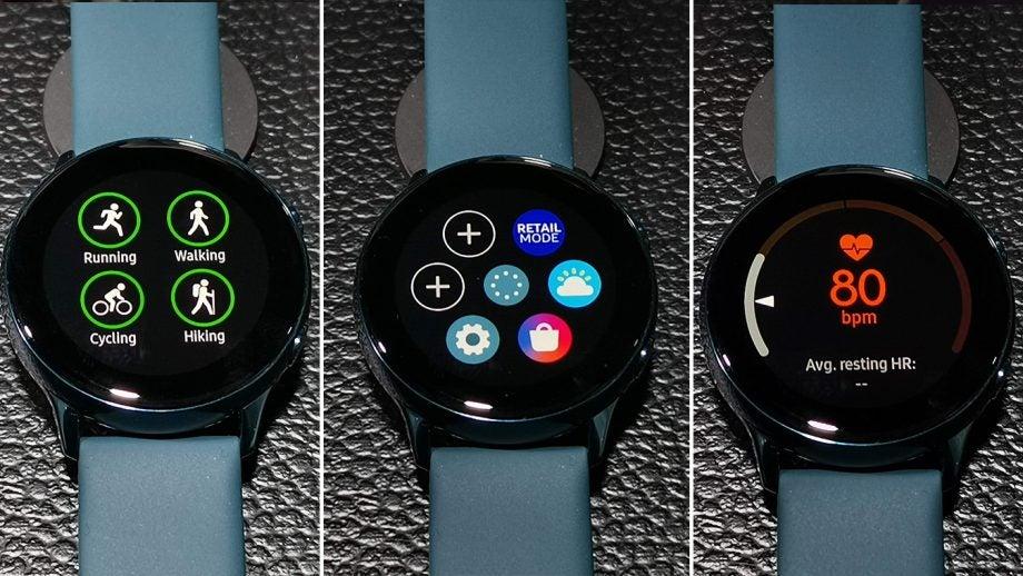 Samsung Galaxy Watch Active UI