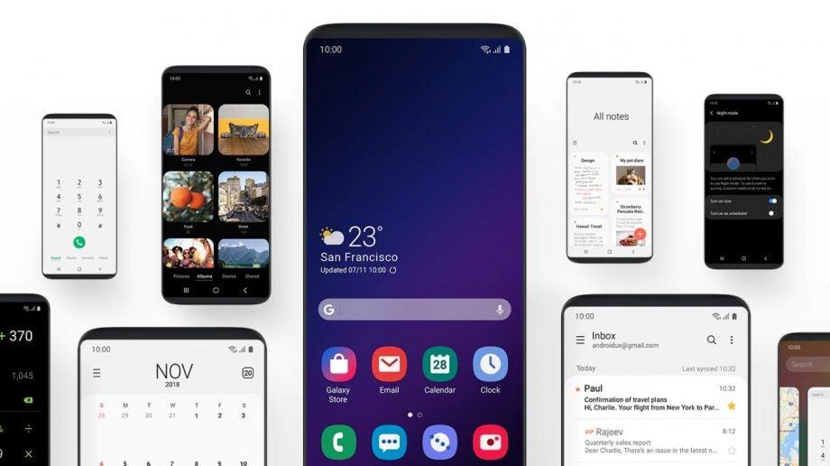 Samsung One UI handheld press image