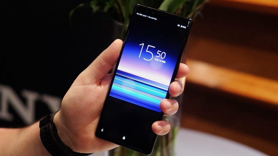 Sony Xperia 1 front handheld