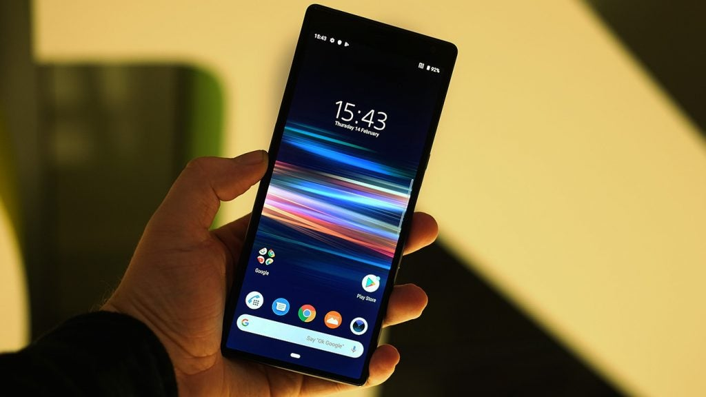 Xperia 10 Plus front handheld