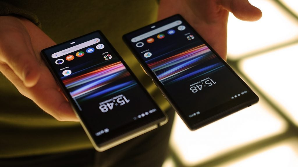 Sony Xperia 10 and 10 Plus handheld upside down