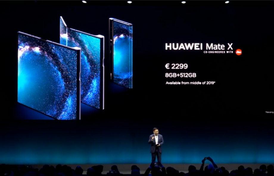 huawei mate x price
