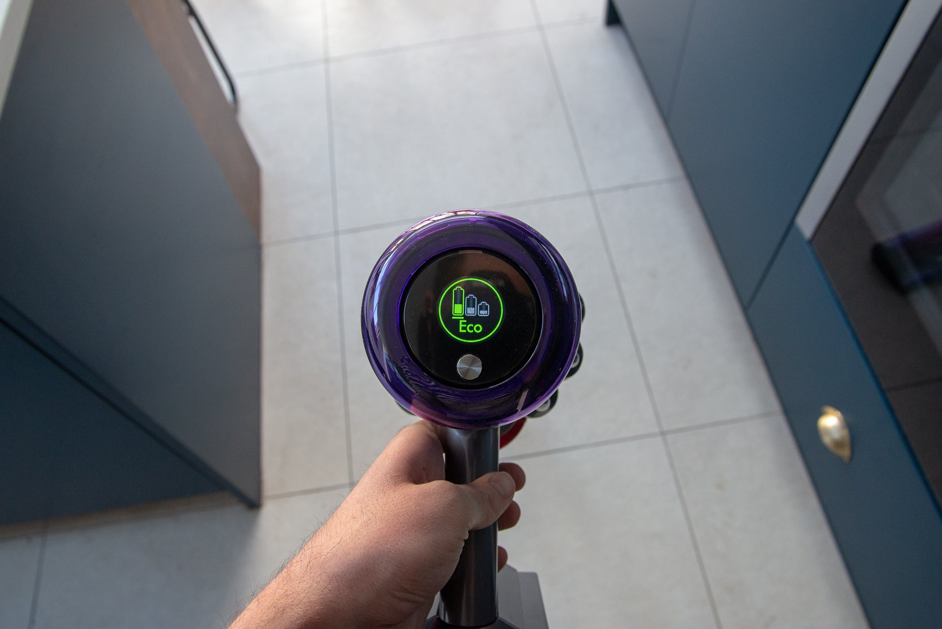 Dyson V11 Absolute Eco mode on screen