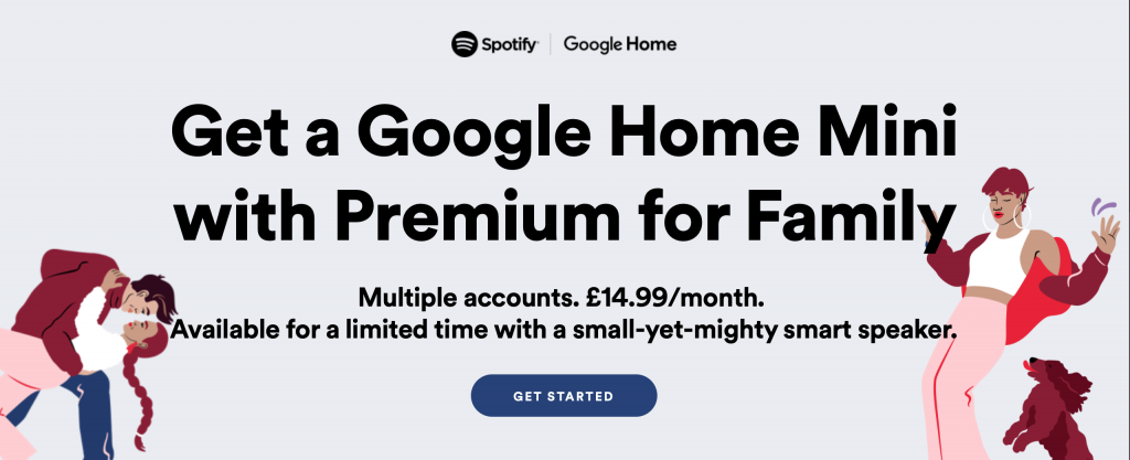 DEAL: Get a free Google Home Mini with Spotify Family