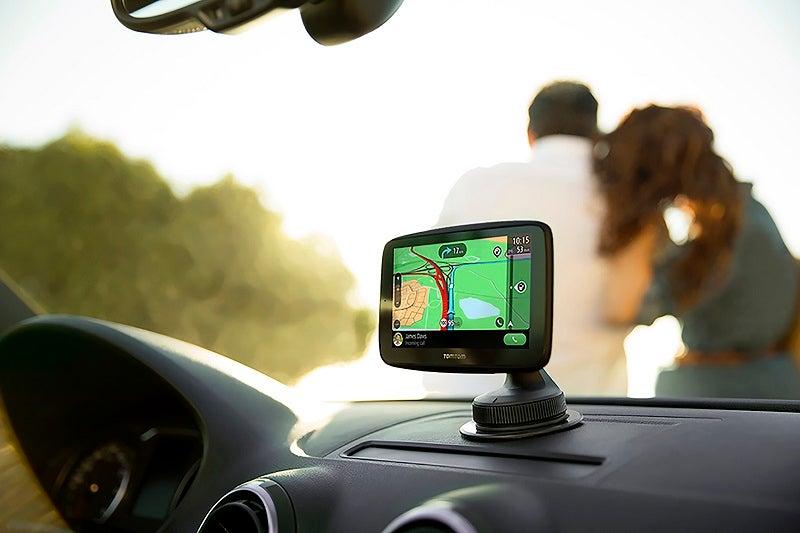 TomTom Go essential on car dashboard