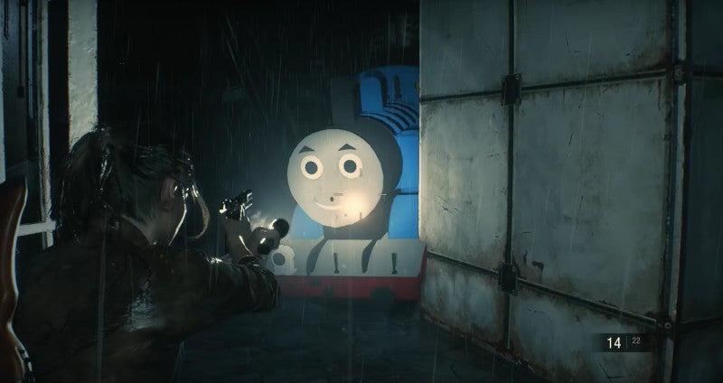 Thomas The Tank Engine will hunt you down in this Resident Evil 2