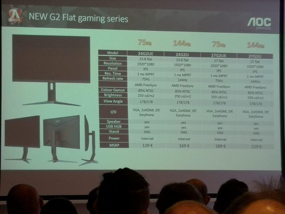 AOC AGON G2 Flat gaming monitors