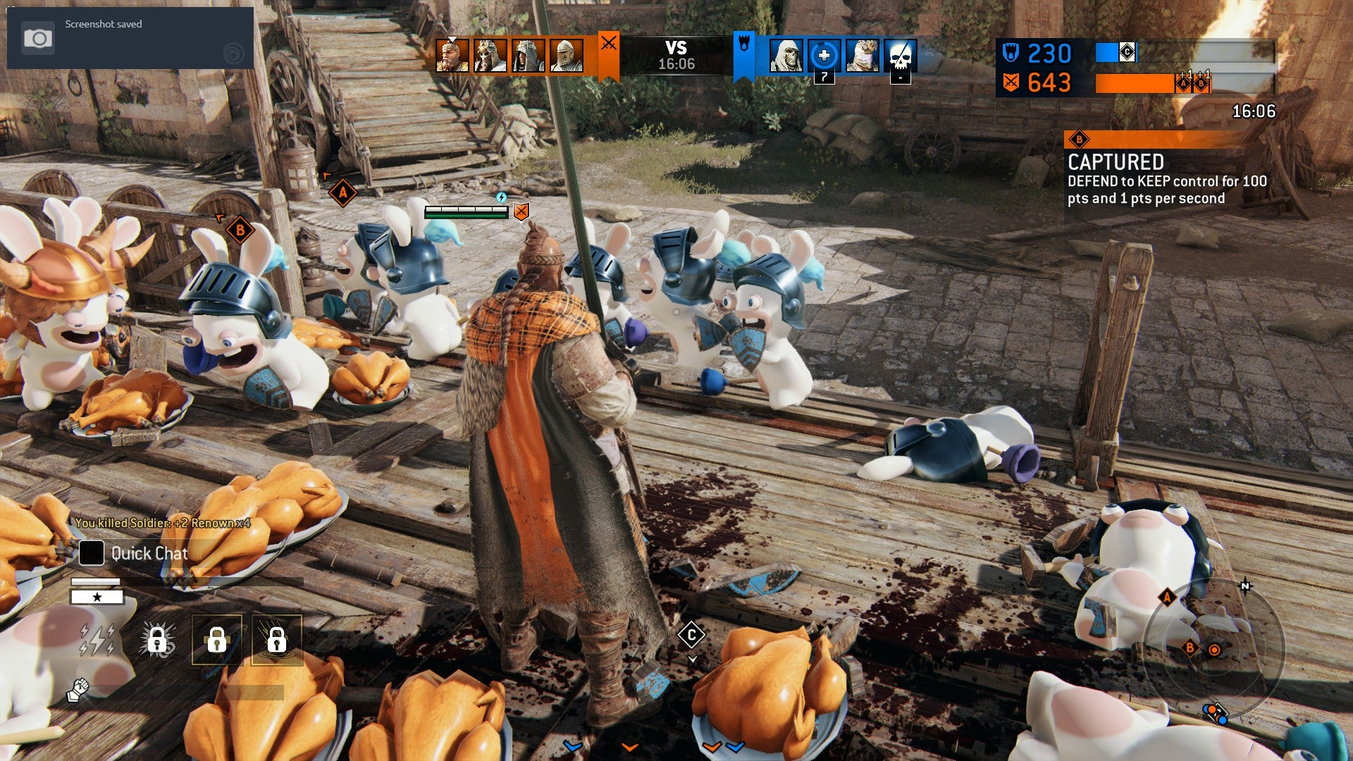 Vikings Vs Rabbids For Honor Just Won April Fool S