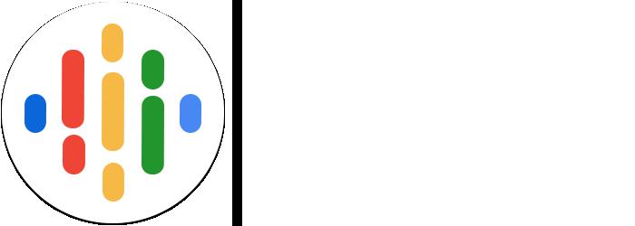 Google Podcasts app logo wide