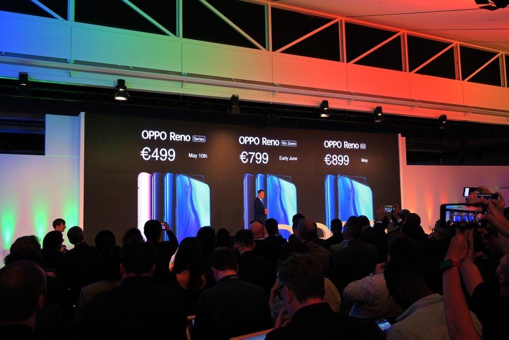 Oppo Reno запускает лейтмотив Euro по цене всех моделей
