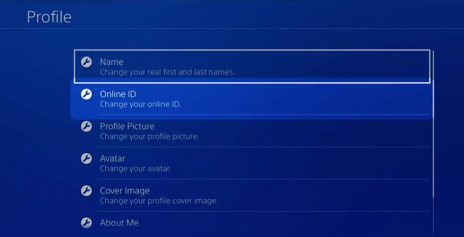 Sony PSN name changes