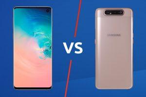 Samsung Galaxy A80 vs Galaxy S10 http://bit ly/2U9kIh1