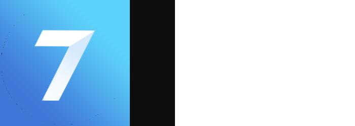 Seven app logo wide