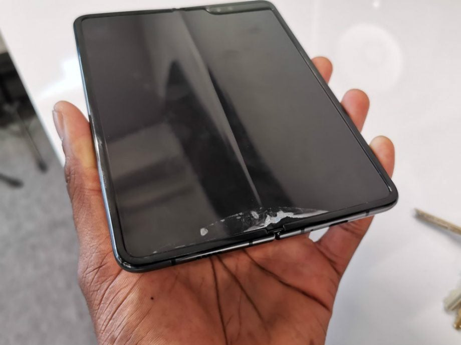 samsung galaxy fold screen problems
