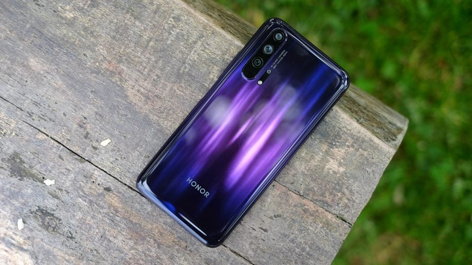 Honor 20 Pro back angled on table
