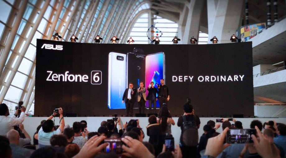 Asus ZenFone 6 launch on stage Valencia 2019
